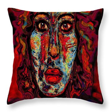 Psychic Throw Pillow by Natalie Holland