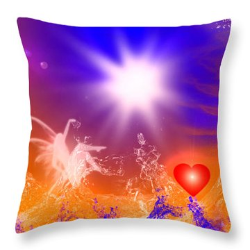 Throw Pillow featuring the digital art Psychic by Ute Posegga-Rudel