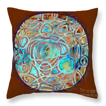 Psychodelic Plate Throw Pillow