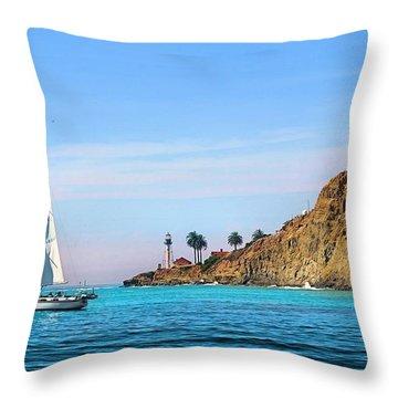 Pt Loma - San Diego Bay Throw Pillow