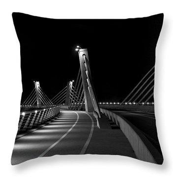 Ptuj Bridge Bw Throw Pillow