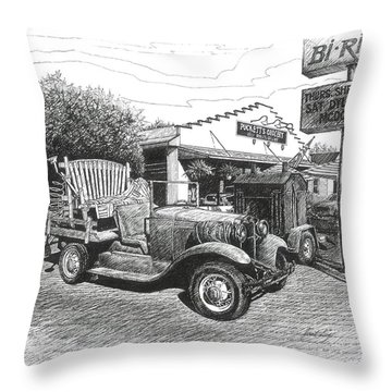Puckett's Grocery And Restuarant Throw Pillow