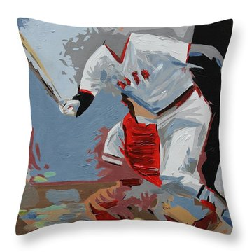 Pudge  Carlton Fisk Throw Pillow