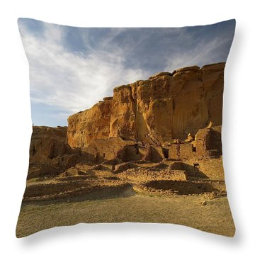 Pueblo Bonito Afternoon Throw Pillow by Feva  Fotos