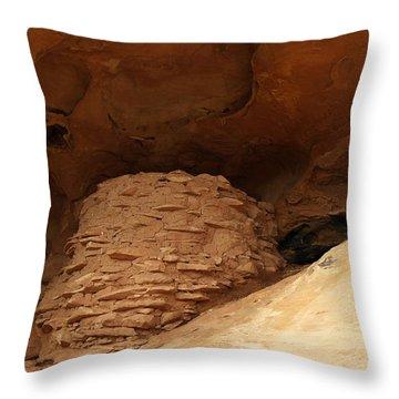 Pueblo Indian Ruins Throw Pillow by Jeff Swan