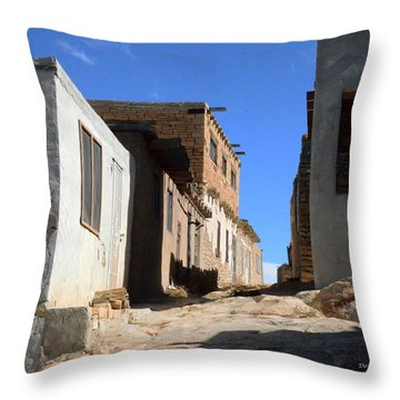 Throw Pillow featuring the photograph Pueblo Pathway by Debby Pueschel