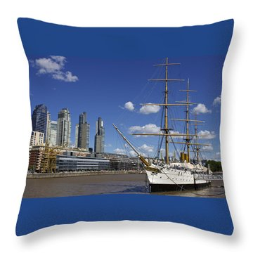 Puerto Madero Buenos Aires Throw Pillow