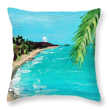Puerto Plata Beach  Throw Pillow by Anastasiya Malakhova