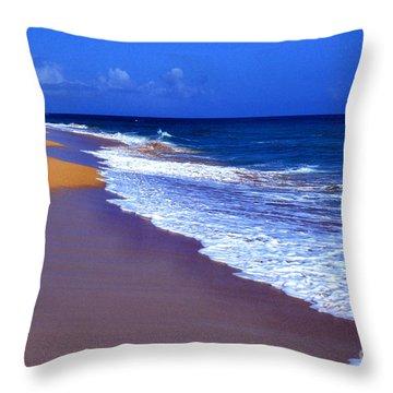 Puerto Rico Seascape Throw Pillow by Thomas R Fletcher