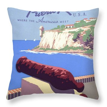 Puerto Rico Usa Throw Pillow by Unknown
