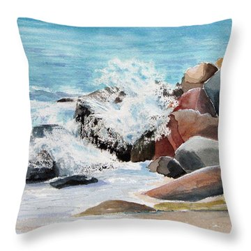 Puerto Vallarta Rocks Throw Pillow