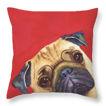Pug 2 Throw Pillow