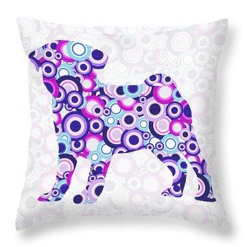 Pug - Animal Art Throw Pillow