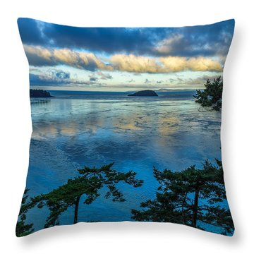 Throw Pillow featuring the photograph Puget Sound Picture Box by Ken Stanback