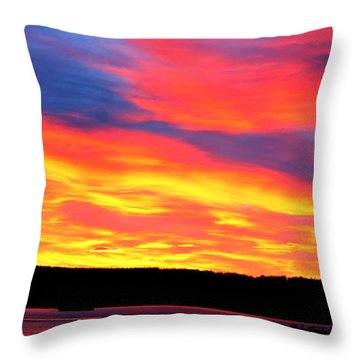 Puget Sound Colors Throw Pillow
