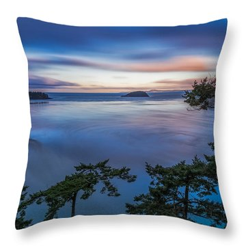 Puget Sound Picture Box-2 Throw Pillow