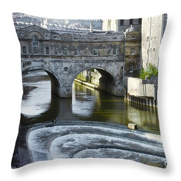 Pulleney Bridge Throw Pillow by Bob Phillips