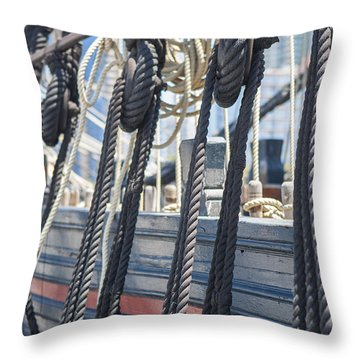 Pulley And Stay Throw Pillow