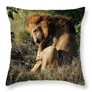 Pulling A Thorn Throw Pillow