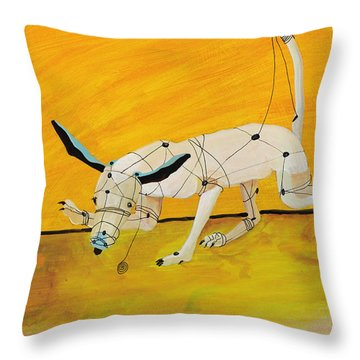Pulling My Own Strings Throw Pillow by Pat Saunders-White
