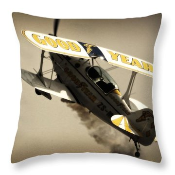 Pulling Up Throw Pillow