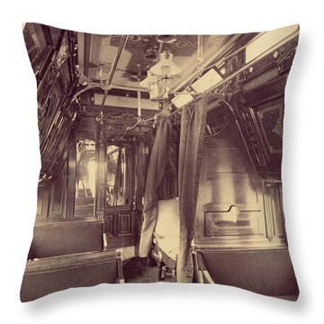 Pullman Palace Sleeping Car 1870 Throw Pillow by Getty Research Institute