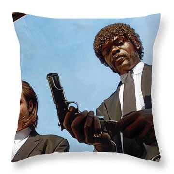 Throw Pillow featuring the painting Pulp Fiction Artwork 1 by Sheraz A