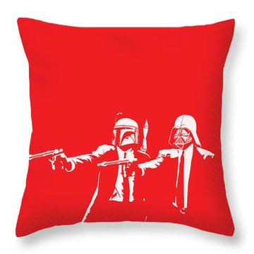 Pulp Wars Throw Pillow