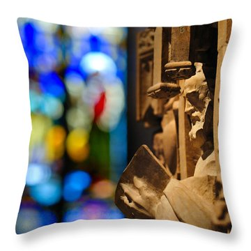 Pulpit Trinity Cathedral Pittsburgh Throw Pillow by Amy Cicconi