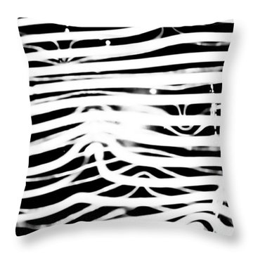 Pulse - Abstract Throw Pillow by Colleen Kammerer