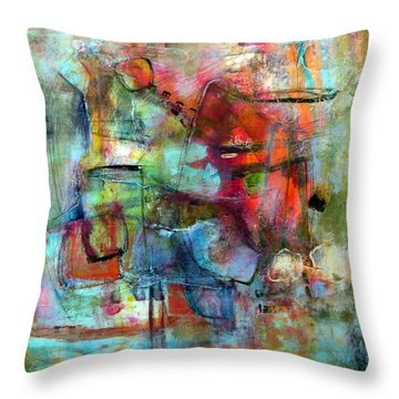 Throw Pillow featuring the painting Pulse by Katie Black