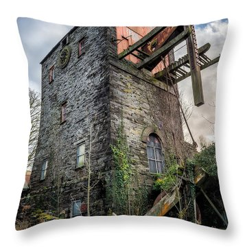 Throw Pillow featuring the photograph Pump House by Adrian Evans