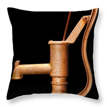 Pump Throw Pillow by Olivier Le Queinec