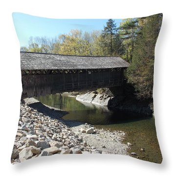 Pumping Station Covered Bridge Throw Pillow