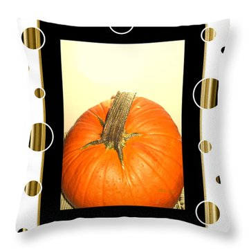 Pumpkin Card Throw Pillow