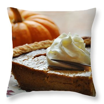 Pumpkin Delight Throw Pillow by Cheryl Baxter