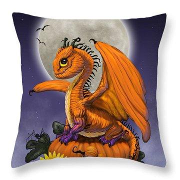 Pumpkin Dragon Throw Pillow
