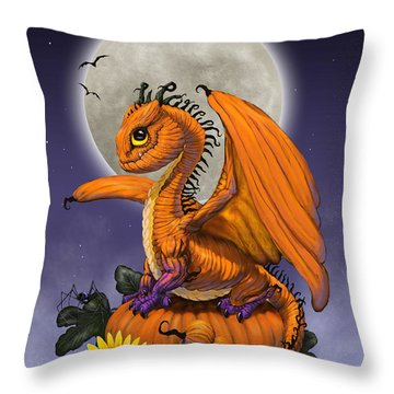 Pumpkin Dragon Throw Pillow