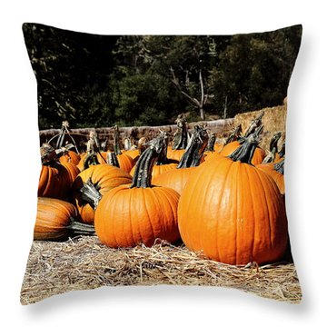 Pumpkin Goofing Off Throw Pillow