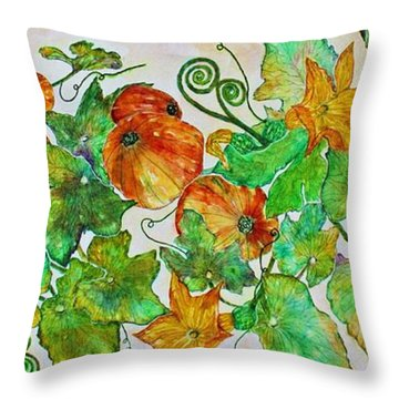 Pumpkin Harvest Time Throw Pillow