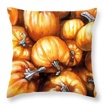 Pumpkin Palooza Throw Pillow by Shana Rowe Jackson