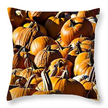 Throw Pillow featuring the photograph Pumpkin Patch  by Aaron Berg