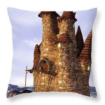 Pumpkin Patch Unicorn Throw Pillow