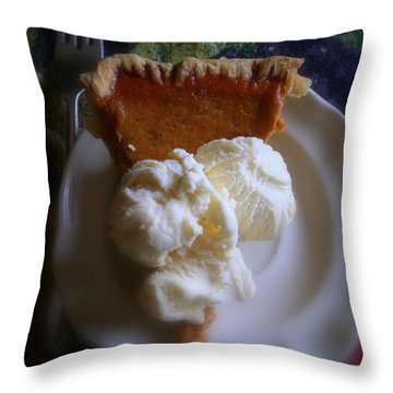 Pumpkin Pie A' La Mode Throw Pillow