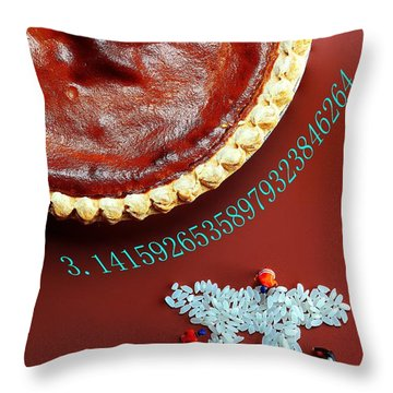 Throw Pillow featuring the photograph Pumpkin Pie And Pi Food Physics by Paul Ge