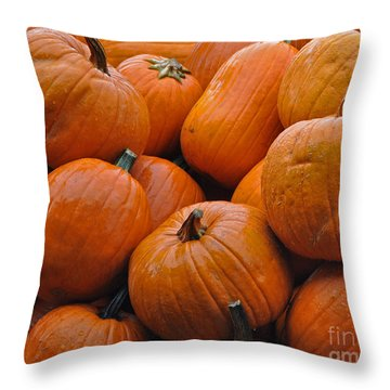 Throw Pillow featuring the photograph Pumpkin Pile by Tikvah's Hope