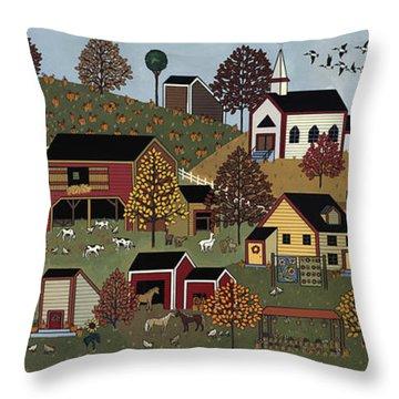Pumpkin Season Throw Pillow by Medana Gabbard