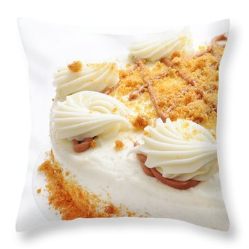 Pumpkin Spice Drizzle Cake 2 Throw Pillow by Andee Design