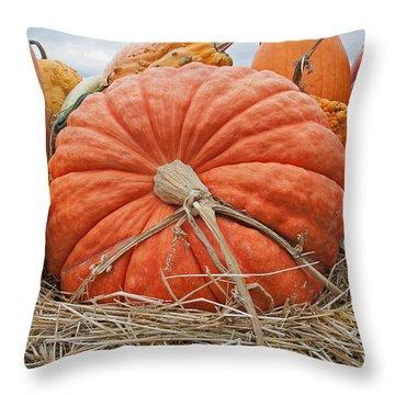 Pumpkin Times Throw Pillow