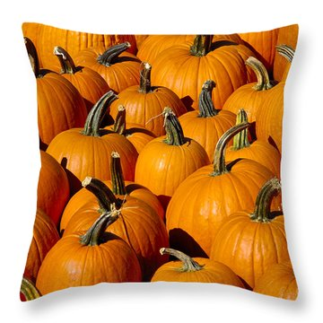 Pumpkins Throw Pillow